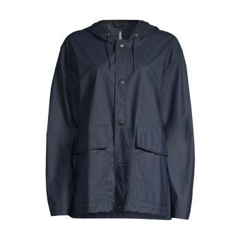 Короткое пальто с капюшоном Rains