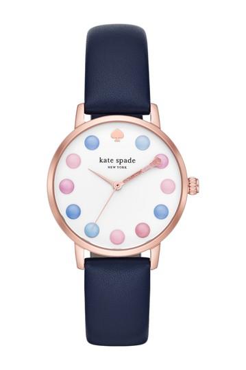 женские часы с кожаным ремешком metro, 34 мм Kate Spade New York