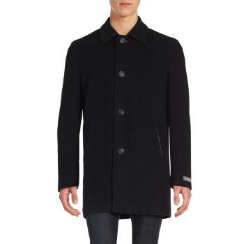 Итальянское верхнее пальто из смесовой шерсти Cole Haan