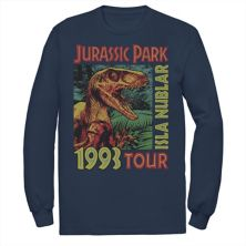 Мужская футболка Jurassic Park Isla Nublar 1993 Tour с плакатом Jurassic Park