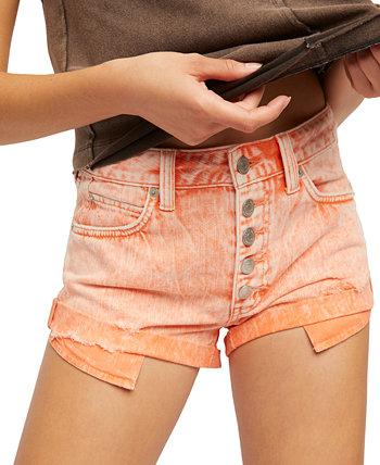 Джинсовые шорты в обрезном стиле Romeo Free People