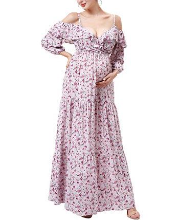 Макси-платье для беременных и кормящих мам Raina Kimi + kai
