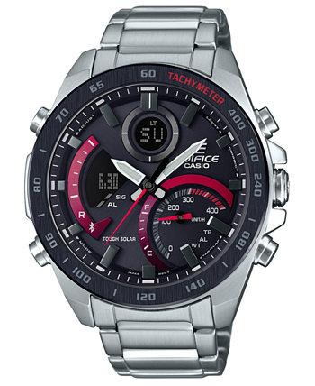 Мужские аналогово-цифровые часы с браслетом из смолы серебристого цвета 48 мм G-Shock