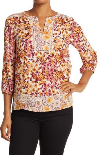 Блуза Boho с разрезом и принтом Daniel Rainn