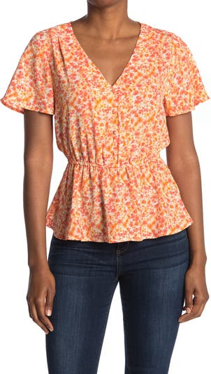 Блуза с короткими рукавами и пуговицами спереди ECLAIR