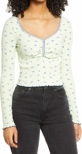 Urban Outfitters Ditsy Pointelle Top BDG