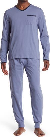 Пижамный комплект из двух предметов с длинными рукавами и джоггерами Lounge Unsimply Stitched