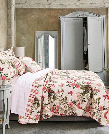 Комплект лоскутного одеяла с бабочками, 2 предмета для близнецов Greenland Home Fashions