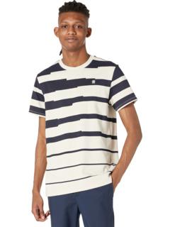 Pixalated Stripe Round Neck T-Shirt Short Sleeve G-Star
