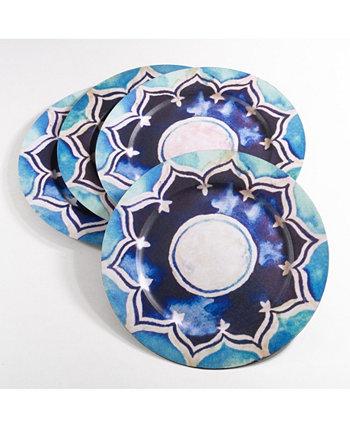 Декоративная коллекция марокканского дизайна, набор пластин для зарядного устройства из 4 шт. Saro Lifestyle