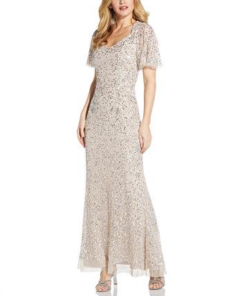 Платье с блестками Adrianna Papell