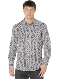 Рубашка на кнопках с длинным рукавом с принтом B2S8086 Rock and Roll Cowboy