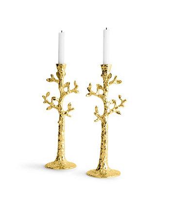 Набор подсвечников Tree of Life из 2 золотых MICHAEL ARAM