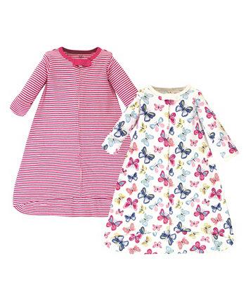 Baby Girls Яркие бабочки с длинным рукавом Переносной спальный мешок, пакет из 2 Touched by Nature