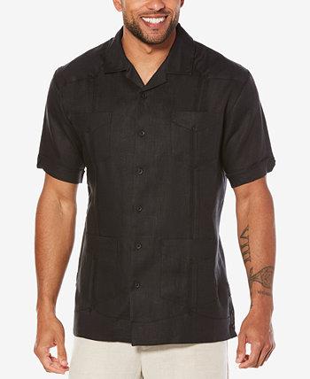 Рубашка Guayabera из 100% льна с короткими рукавами и 4 карманами Cubavera