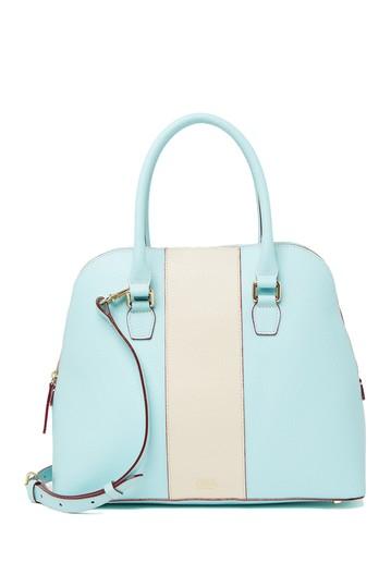 Кожаная сумка-портфель Rachel Racing в полоску Frances Valentine