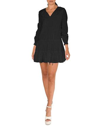 Tiered Shift Dress Nicole Miller
