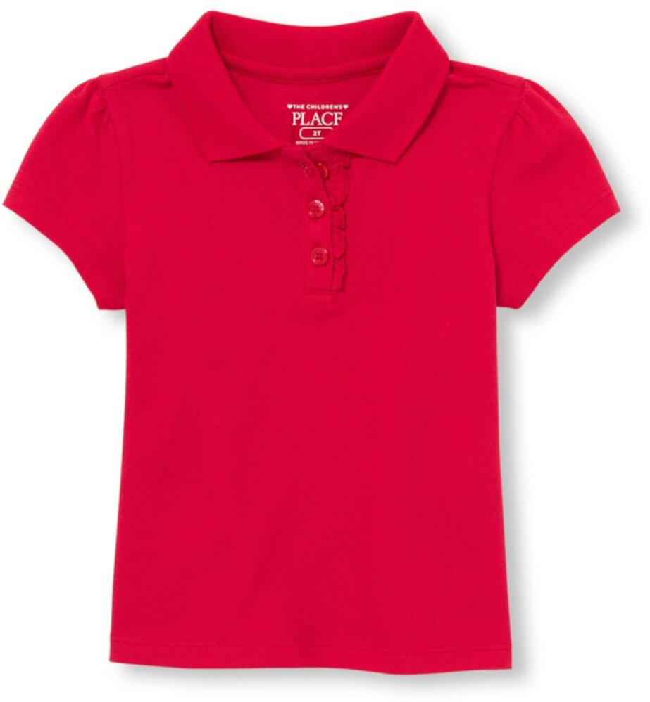 Uniform Ruffle Pique Polo (Toddler) The Children's Place