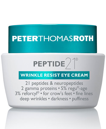 Крем для век против морщин Peptide 21, 0,5 унции. Peter Thomas Roth