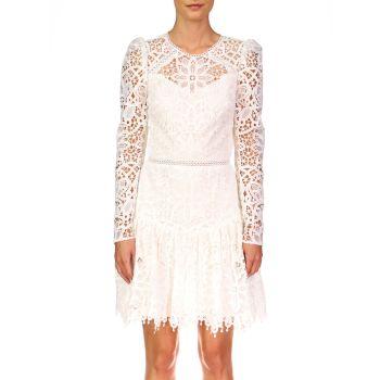 Коктейльное платье с длинным рукавом из кружева ML Monique Lhuillier ML Monique Lhuillier