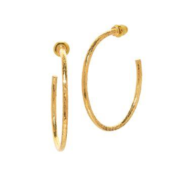 Серьги-кольца Vertigo из желтого золота 24 карат Gurhan
