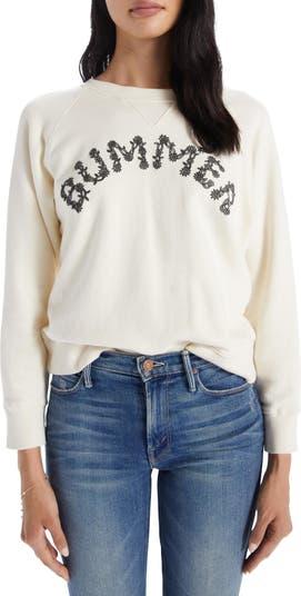 Свитшот-пуловер с рваным графическим принтом The Square MOTHER