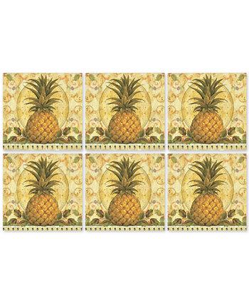 Pimpernel Набор из 6 подставок для золотых ананасов Portmeirion