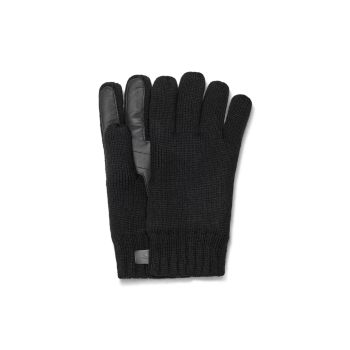 Кожа Palm Patch & amp; Вязать перчатки UGG