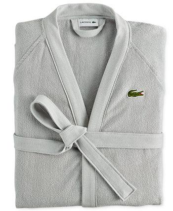 Домашний банный халат из пике Lacoste