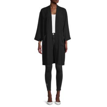 Шелковая куртка-кимоно с открытой передней частью Eileen Fisher