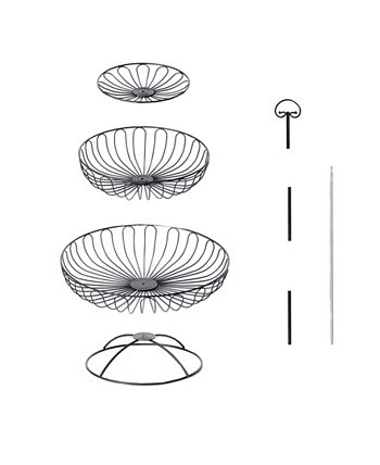 3 Tiers Wire Basket Fruit Bowl Basicwise