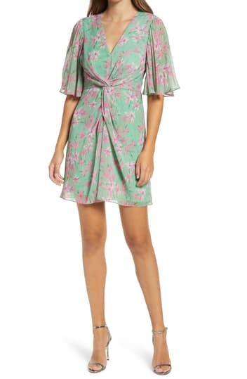 Мини-платье Ceci Twist спереди Adelyn Rae