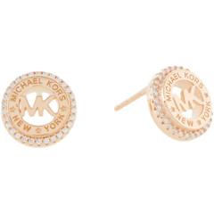 Серьги-гвоздики из стерлингового серебра с изысканным логотипом Michael Kors