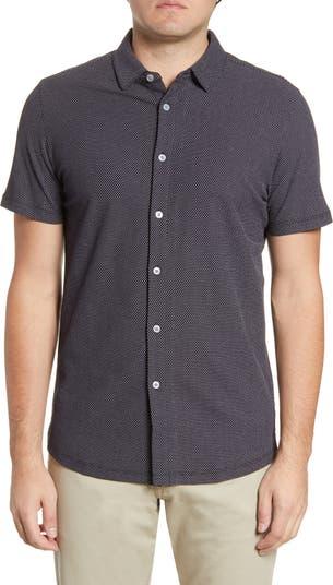 Вязаная рубашка с короткими рукавами и пуговицами Broderick ROBERT BARAKETT