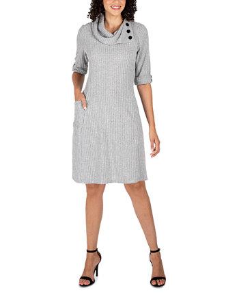 Платье-свитер с воротником под горло Robbie Bee