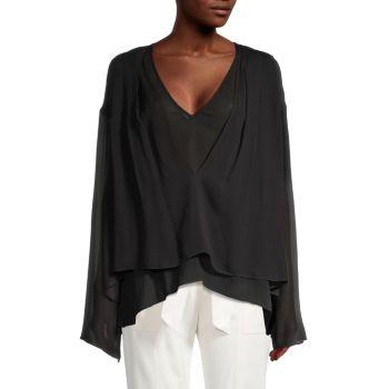 Блуза из многослойного жоржета Rioni IRO