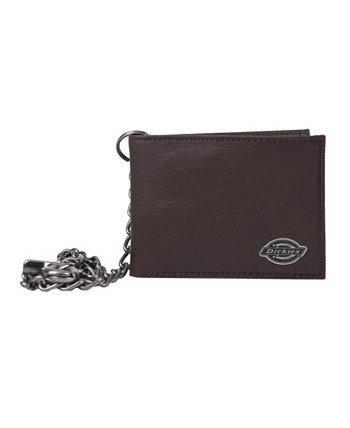 Кожаный мужской кошелек Slimfold с цепочкой Dickies