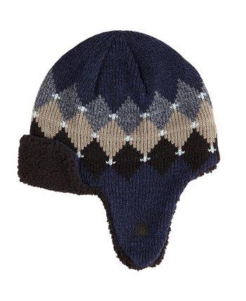Мужская шапка-ушанка Isotoner с аргайл на подкладке Isotoner Signature