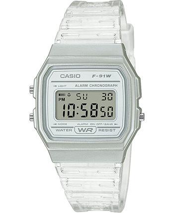 Цифровые часы унисекс с прозрачным желейным ремешком, 35,2 мм Casio