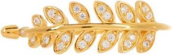 Кольцо в виде листьев из 14-каратного золота Vermeil CZ Sterling Forever