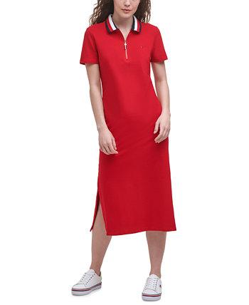 Платье-поло миди на молнии Tommy Hilfiger