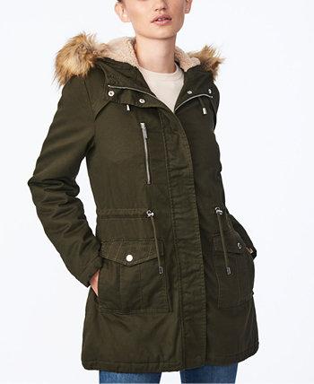 Куртка-анорак с капюшоном и отделкой из искусственного меха для юниоров Collection B