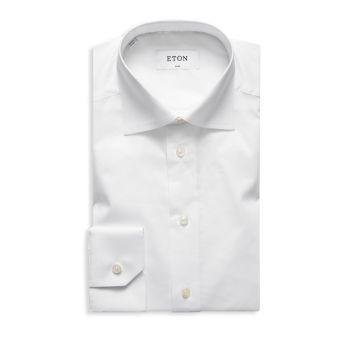 Хлопковая классическая рубашка приталенного кроя Eton