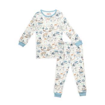 Little Boy's & amp; Комплект из 2 предметов для мальчика с магнитной пижамой Northern Lights с магнитами MAGNETIC ME