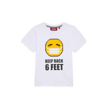 Little Boy's & amp; Мини-футболка для мальчиков Keep Back Mostly Heard Rarely Seen