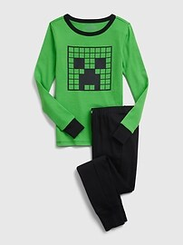 GapKids | Пижамный комплект из 100% органического хлопка Minecraft Gap