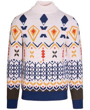 Мужской свитер из осины с воротником-стойкой Paisley & Gray