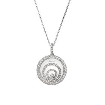 Happy Spirit 18K белое золото & amp; Ожерелье с бриллиантовой подвеской Chopard