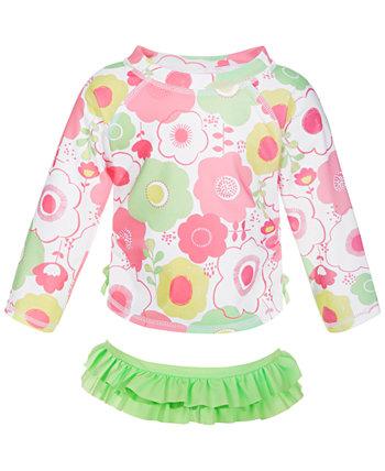 Baby Girls 2-Pc. Набор цветочных рашгардов, созданный для Macy's First Impressions