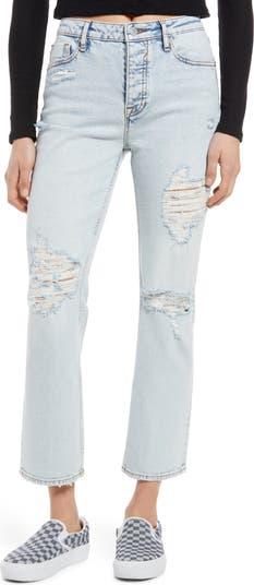 Укороченные прямые джинсы Stevie с завышенной талией и прямыми штанинами Vigoss